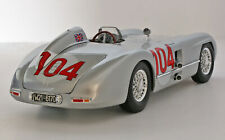 55 Targa Florio Winner M-B 300Slr #104-Silver (Moss/Collins) 1:18 Diecast-In Box