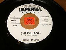 HANK JACOBS - SHERYL ANN - STING RAY  / LISTEN - RNB ORGAN POPCORN