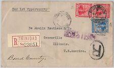 52021 - TRINIDAD & TOBAGO - POSTAL HISTORY -  REGISTERED  COVER to USA 1916