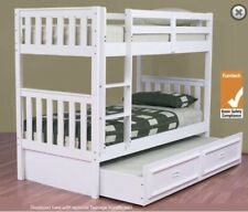 Bunk bed ONLY single SOLID white NEW Kids