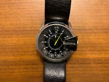 Diesel DZ1295 Mens Master Chief Stainless Steel Case Black Leather Watch New Bat