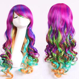 Women Kids Girls Descendants 2 Mal Evie Cosplay Fancy Dress Costume Long Wigs