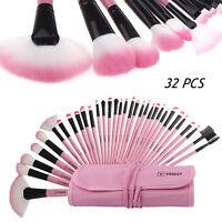 VANDER 32pcs/Set Fashion Lovely Pink Soft Beauty Makeup Brushes Kit + Pouch Bag