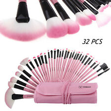 Vander 32pcs Fashion Lovely Pink Soft Beauty Makeup Brushes Set Kit + Pouch Bag