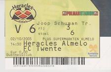 Sammler Used Ticket / Entrada Heracles Almelo v FC Twente Enschede 02-10-2005