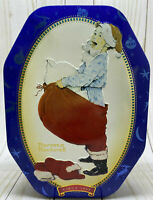Vintage Snickers Limited Edition Christmas Tin 1998 Norman Rockwell Child Santa
