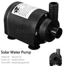 DC 6V-24V Solar Hot Water Pump Brushless Submersible Fountain Motor 1000 L/H
