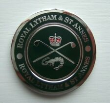TOP QUALITY 2-IN-1 DUO MEDALLION GOLF BALL MARKER FROM ROYAL LYTHAM GC - ENGLAND