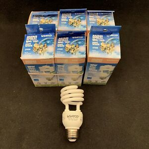 SATCO S7224 18W Mini Spiral Medium Base 2700K CFL. 12,000 hrs. 1140 Lumens. NEW