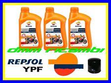 Kit Tagliando HONDA HORNET 600 07>08 Filtro Olio REPSOL 10W40 CB 600F 2007 2008
