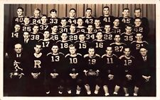 Real Photo Postcard Team Photo 1940 Championship Football Team and Trophy~114962
