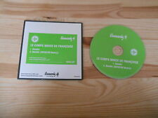 CD pop Le Corps Mince de Françoise-Gandhi (2 chanson) promo Heavenly
