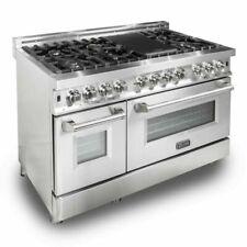 "ZLINE RA48 48"" 6.0 cu.ft. 7-Gas Burner Electric Oven Range - Stainless Steel"