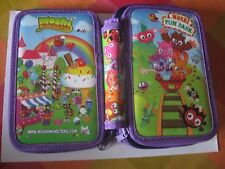 Moshi Monsters Large Pencil Case, 10 Colours Pen and 4 Eraser Set