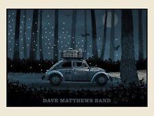 Dave Matthews Band Poster 2014 Berkeley Greek N3 Vw Bug Numbered #/1075