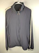 Vtg Prada Sport Blue White Track Jacket Sz XXL