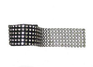 "36"" x 6 Rows Sparkling Black Diamante Ribbon Cake Crafts Flower Wrap Acrylic"