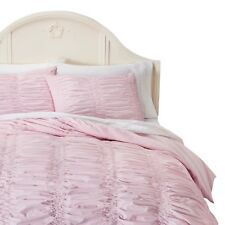 NEW Simply Shabby Chic Textured Duvet Cover Set Pink -  Full/Queen