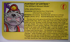 VINTAGE! 1991 Playmates Teenage Mutant Ninja Turtles Filecard-Dirtbag
