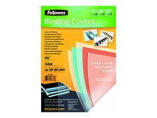 Fellowes Deckblatt DIN A4 PVC transparent 0 15 Mm