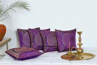 "Indian Brocade Mandala Cushion Cover Decorative Silk Pillow Case Cover Throw 16"""