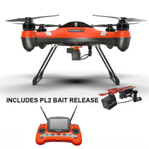 SwellPro Splash Drone 3 Plus Waterproof Drone w/ Fishing Bait Release PL2 camera