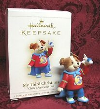 HALLMARK 2006 ORNAMENT~CHILD'S AGE COLLECTION~MY THIRD CHRISTMAS ~ BOY
