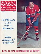 1963 (Apr.) Sport Revue Hockey Magazine, Ab McDonald, Montreal Canadiens ~ VG