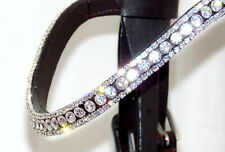 Fss Sparkle Rhinestone Crystal Browband Clear White Ice Bling U Curve Shape Full