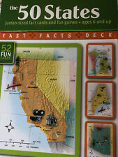 50 States : Jumbo Sized Fact Cards And Fun Games Educational Ages 6 And up