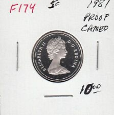 F174 CANADA 5 CENTS 5c COIN 1981 PROOF FROSTED CAMEO DESIGN CHARLTON $10.00