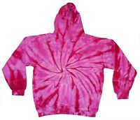 Tie Dye Hoodie Sweatshirts Blue /& Pink Kids Youth XS to Youth L 80/% Cotton