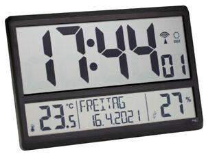TFA 60.4520 XL Funkwanduhr digital Temperatur Wanduhr Funkuhr Datum Wochentag