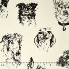 DOGS Fabric Fat Quarter Cotton Craft Quilting BOW WOW WOW Alexander Henry