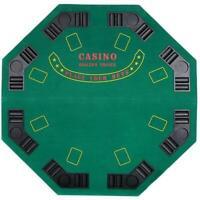 "Luckyermore 47"" Poker Octagon Table Top 8 Player Chip Casino Game Bag Texas"