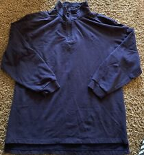 Browning Mens XL Tall Blue 1/4 Zip Long Sleeve Pullover Cotton Heavy EUC Hunting
