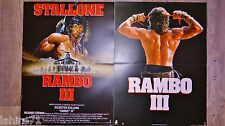 stallone RAMBO 3 !  les 2 affiches cinema