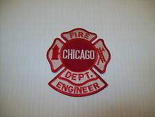 Chicago Fire Department Maltese w/ Engineer