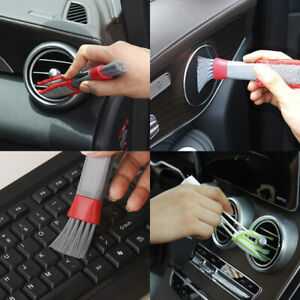 Car Brush Vent Cleaner Microfiber Air Conditioner Grille Duster Auto Detailing