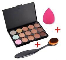 BEAUTY MakeUp 15 Color Concealer Palette Contour Kit Cream, Brush, Sponge