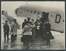 orig Foto Lufthansa Junkers Ju 52 D-AFIR Fluggäste Piloten Tempelhof Berlin 1934