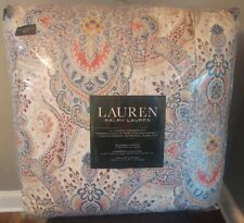 New $325 Ralph Lauren Fontaine Paisley Floral Red Blue Queen 3-Pc Comforter Set