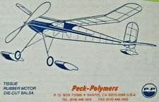 """34"""" CONVERTABLE Rubber Free Flight Balsa Model Airplane Kit Peck Polymers PP032"""