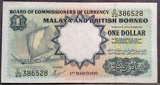 Malaya & British Borneo $1 TDLR C22 386528 Vf+ 1959