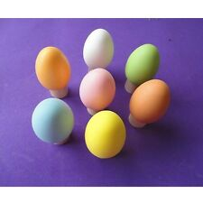 20/Plastic Easter Eggs Bright Egg Hunt DIY Decoration Toy New Year Kids Gifts