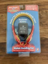 New Story Reader Stereo Headphones with AC Adapter.