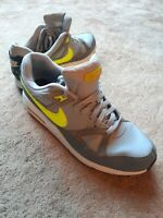 Nike Air Max Span Trainers Sneakers UK Size 11 in Grey, Teal & Yellow 554666-079