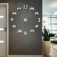 Wall Clock Watch Home Modern Video Game Controllers Acrylic Mirror Quartz Clocks
