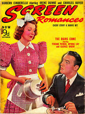 SCREEN ROMANCES 10/1939 IRENE DUNNE & CHARLES BOYER Judy Garland MYRNA LOY