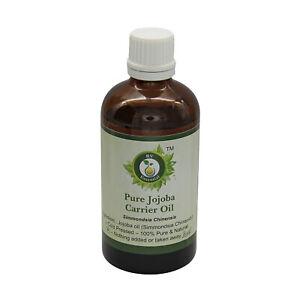 Pure Jojoba Oil Simmondsia Chinensis Cold Pressed Uncut Natural For Skin Hair